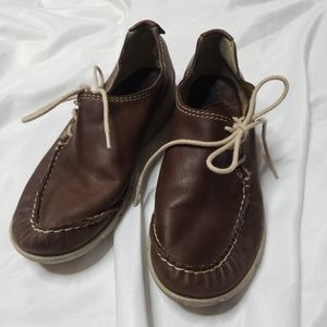 WOLKY Brown leather lace up shoes size 36